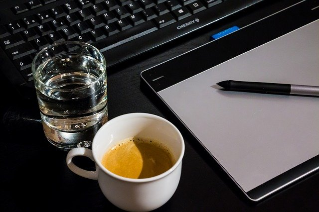 káva a voda